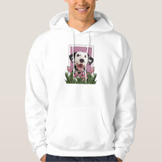 Mutter-Tag - rosa Tulpen - Dalmatiner Hoodie