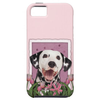 Mutter-Tag - rosa Tulpen - Dalmatiner iPhone 5 Cover