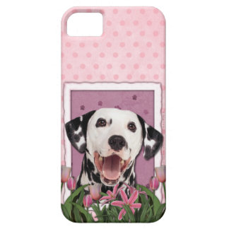 Mutter-Tag - rosa Tulpen - Dalmatiner iPhone 5 Schutzhülle