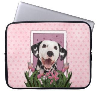 Mutter-Tag - rosa Tulpen - Dalmatiner Laptop Sleeve Schutzhüllen