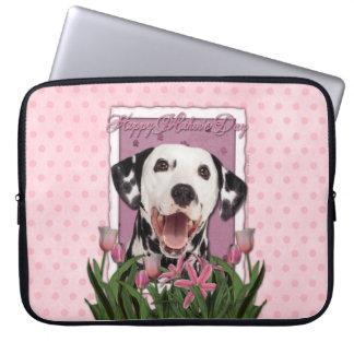 Mutter-Tag - rosa Tulpen - Dalmatiner Laptop Schutzhüllen