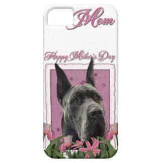 Mutter-Tag - rosa Tulpen - Deutsche Dogge - Grau Hülle Fürs iPhone 5