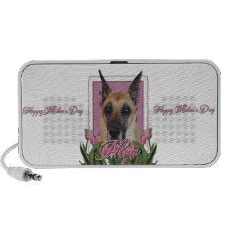 Mutter-Tag - rosa Tulpen - Deutsche Dogge Reise Speaker