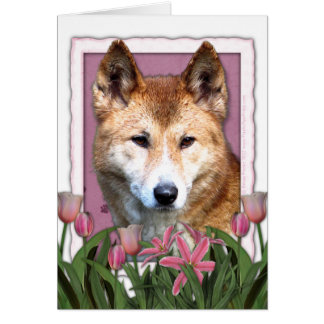 Mutter-Tag - rosa Tulpen - Dingo Karte