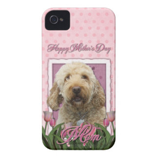 Mutter-Tag - rosa Tulpen - GoldenDoodle iPhone 4 Cover