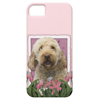 Mutter-Tag - rosa Tulpen - GoldenDoodle iPhone 5 Case