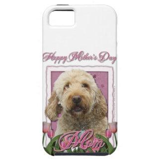 Mutter-Tag - rosa Tulpen - GoldenDoodle iPhone 5 Schutzhülle
