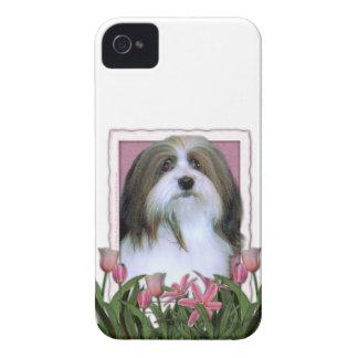 Mutter-Tag - rosa Tulpen - Havanese Case-Mate iPhone 4 Hüllen