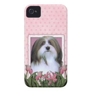 Mutter-Tag - rosa Tulpen - Havanese iPhone 4 Case-Mate Hüllen