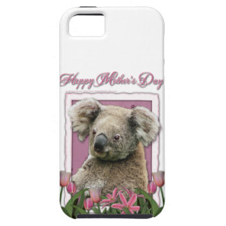 Mutter-Tag - rosa Tulpen - Koala Tough iPhone 5 Hülle