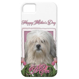 Mutter-Tag - rosa Tulpen - Lowchen iPhone 5 Cover