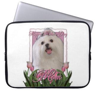Mutter-Tag - rosa Tulpen - maltesisch Laptop Sleeve Schutzhüllen