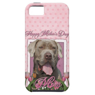 Mutter-Tag - rosa Tulpen - Mastiff - Schnüffler Hülle Fürs iPhone 5