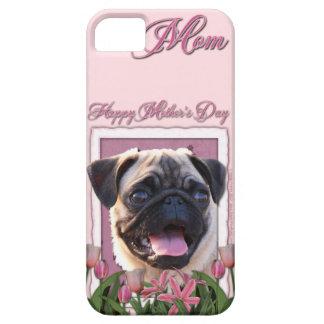 Mutter-Tag - rosa Tulpen - Mops iPhone 5 Hüllen