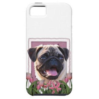 Mutter-Tag - rosa Tulpen - Mops iPhone 5 Schutzhülle