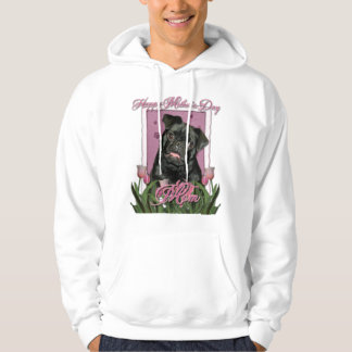 Mutter-Tag - rosa Tulpen - Mops - Ruffy Hoodie