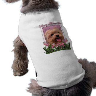 Mutter-Tag - rosa Tulpen - Morkie - Lacey Shirt