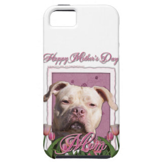 Mutter-Tag - rosa Tulpen - Pitbull - iPhone 5 Cover