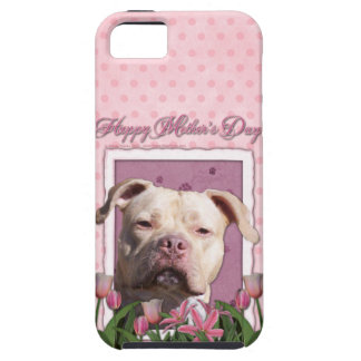 Mutter-Tag - rosa Tulpen - Pitbull - iPhone 5 Etuis