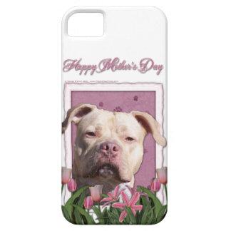 Mutter-Tag - rosa Tulpen - Pitbull - iPhone 5 Hüllen