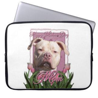 Mutter-Tag - rosa Tulpen - Pitbull - Jersey-Mädche Computer Schutzhüllen