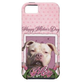 Mutter-Tag - rosa Tulpen - Pitbull - Schutzhülle Fürs iPhone 5