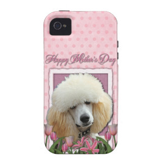 Mutter-Tag - rosa Tulpen - Pudel - Aprikose Case-Mate iPhone 4 Cover