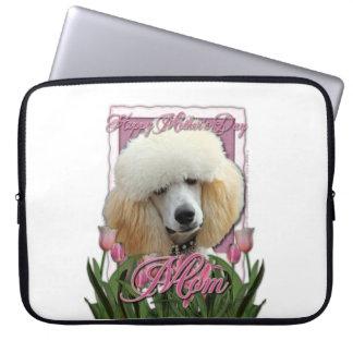 Mutter-Tag - rosa Tulpen - Pudel - Aprikose Laptop Sleeve Schutzhülle