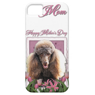 Mutter-Tag - rosa Tulpen - Pudel - Schokolade iPhone 5 Etui