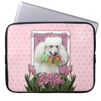 Mutter-Tag - rosa Tulpen - Pudel - Weiß Computer Schutzhülle