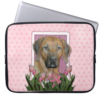 Mutter-Tag - rosa Tulpen - Rhodesian Ridgeback Computer Schutzhüllen