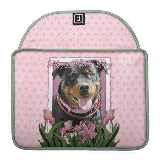 Mutter-Tag - rosa Tulpen - Rottweiler - SambaParT Sleeves Für MacBooks