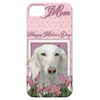 Mutter-Tag - rosa Tulpen - Saluki iPhone 5 Cover