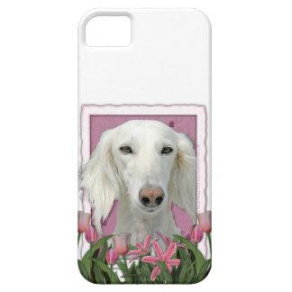 Mutter-Tag - rosa Tulpen - Saluki iPhone 5 Schutzhülle