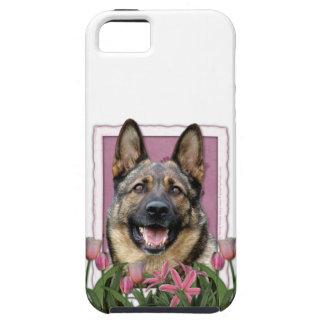 Mutter-Tag - rosa Tulpen - Schäferhund Etui Fürs iPhone 5
