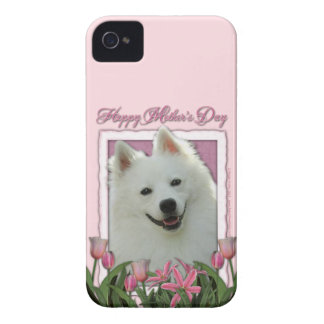 Mutter-Tag - rosa Tulpen - Schäferhund iPhone 4 Case-Mate Hülle