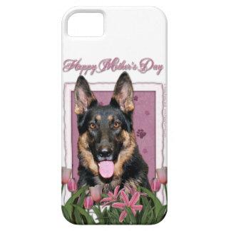 Mutter-Tag - rosa Tulpen - Schäferhund - Kuno iPhone 5 Etui