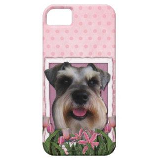 Mutter-Tag - rosa Tulpen - Schnauzer Hülle Fürs iPhone 5