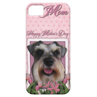 Mutter-Tag - rosa Tulpen - Schnauzer iPhone 5 Case