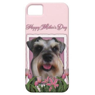 Mutter-Tag - rosa Tulpen - Schnauzer Schutzhülle Fürs iPhone 5