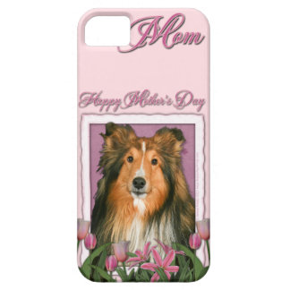 Mutter-Tag - rosa Tulpen - Sheltie Barely There iPhone 5 Hülle