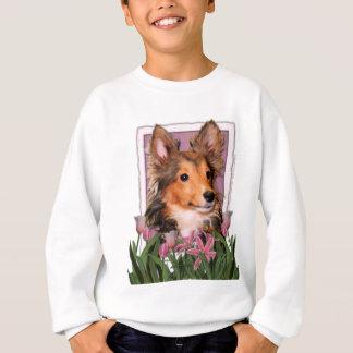 Mutter-Tag - rosa Tulpen - Sheltie - Fassbinder Sweatshirt