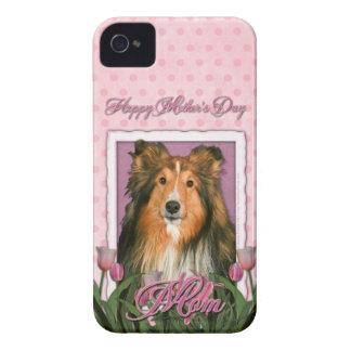Mutter-Tag - rosa Tulpen - Sheltie iPhone 4 Case-Mate Hüllen