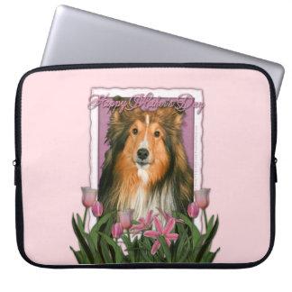 Mutter-Tag - rosa Tulpen - Sheltie Computer Sleeve Schutzhüllen