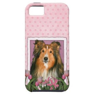 Mutter-Tag - rosa Tulpen - Sheltie Tough iPhone 5 Hülle