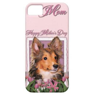 Mutter-Tag - rosa Tulpen - Sheltie Welpe - iPhone 5 Schutzhülle