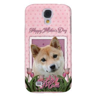 Mutter-Tag - rosa Tulpen - Shiba Inu Galaxy S4 Hülle