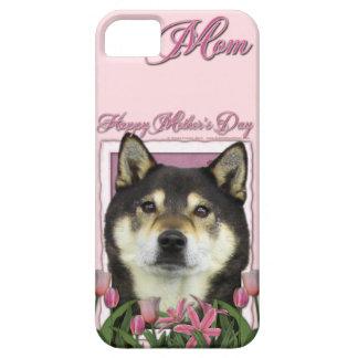 Mutter-Tag - rosa Tulpen - Shiba Inu - Yasha iPhone 5 Etuis