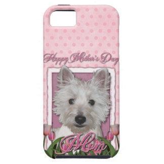 Mutter-Tag - rosa Tulpen - Westie Etui Fürs iPhone 5