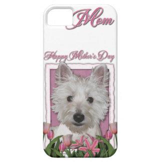 Mutter-Tag - rosa Tulpen - Westie iPhone 5 Schutzhülle